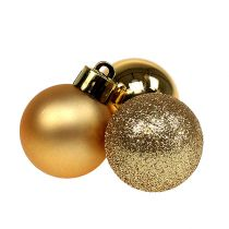 Mini bola navideña dorada Ø3cm 14pcs