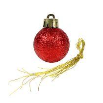 Mini bola de Navidad roja Ø3cm 14pcs