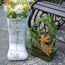 Casa de césped de decoración de musgo casa con musgo artificial y helecho