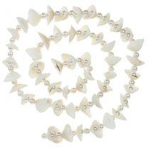 Guirnalda de concha con perlas blanco 100cm
