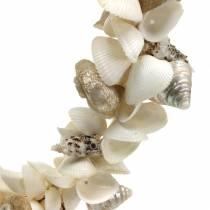 Corona de conchas blanco natural Ø40cm