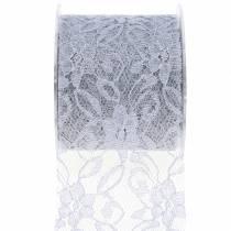 Cinta decorativa cinta de encaje gris 70mm 15m