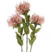 Alfiletero de flores de otoño artificial Protea Rosa Leucospermum 73cm 3pcs