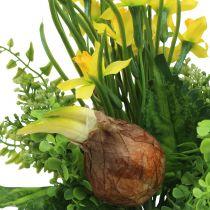 Narciso artificial bouquet con ramas y cebollas 38cm