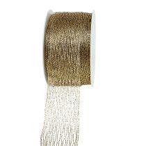 Cinta de malla reforzada con alambre dorado 40mm 15m