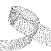 Cinta de malla reforzada con alambre plateado 40mm 15m