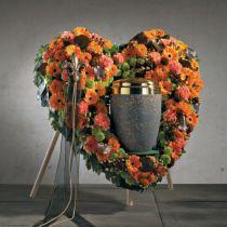 OASIS® Bioline® Urna decorativa corazón 65cm con soporte