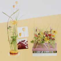 Paneles de diseño de espuma floral plug-in tamaño amarillo 34,5 cm × 34,5 cm 3 piezas