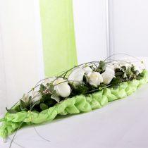 Decoración de mesa de ladrillo de espuma floral verde 22cm x 7cm x 5cm 10pcs