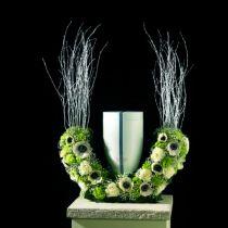 Urnas de espuma floral medio anillo H29cm Ø47cm 1pc joyas de luto