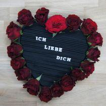 Espuma floral corazón negro 38cm 2pcs
