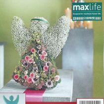 Ángel de espuma floral con dimensiones de pie 45 cm x 34 cm