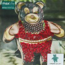 Figura de espuma floral Teddy con soporte 48.5cm x 42cm H5cm 1pc