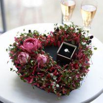Espuma floral negro 17cm 2pcs decoración de la boda