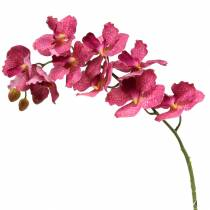 Rama de orquídea artificial rosa H83cm