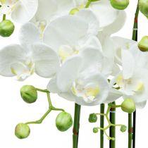 Orquídeas artificiales en maceta planta artificial blanca 63cm