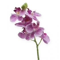 Orquídea con purpurina, rosa 35cm