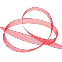 Cinta de organza con orillo 1,5cm 50m rojo