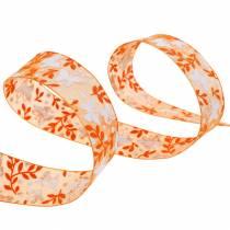 Cinta de organza mariposas 25mm cinta decorativa naranja cinta regalo 20m