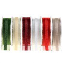 Cinta de organza con patrón de rayas 25mm 20m