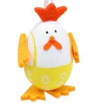 Huevo pintado como una polla para colgar en la mezcla 7,5cm 12pcs