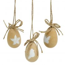 Huevos de Pascua de madera con motivos 8pcs
