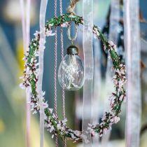 Huevos de Pascua con flores secas, huevos decorativos de vidrio real, decoraciones florales de Pascua para colgar, huevos de vidrio 8 piezas