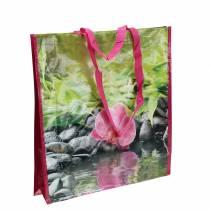 Bolsa de compras con asas Felicidad plástico 38 × 10 × 40cm