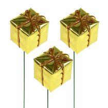 Paquete 2.5cm sobre alambre dorado 60pcs