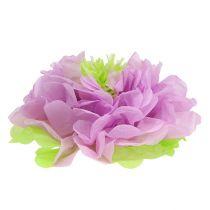 Flor de papel Ø28cm para colgar verde-morado