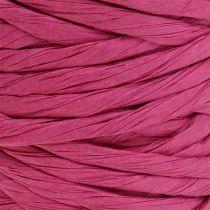 Cordon de papel 6mm 23m Rosa