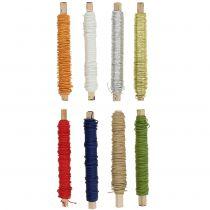 Cable de papel envuelto en alambre Ø0,8mm 22m de color