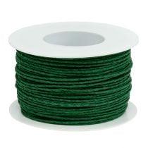 Cable de papel enrollado alrededor de Ø2mm 100m verde