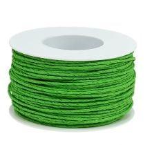 Cable de papel envuelto en alambre Ø2mm 100m verde manzana