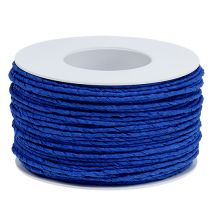 Cordón de papel envuelto en alambre Ø2mm 100m azul