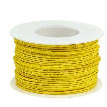 Cable de papel envuelto en alambre Ø2mm 100m amarillo