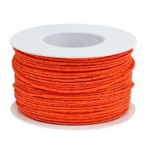 Cable de papel envuelto en alambre Ø2mm 100m naranja
