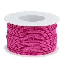 Cable de papel envuelto en alambre Ø2mm 100m Rosa