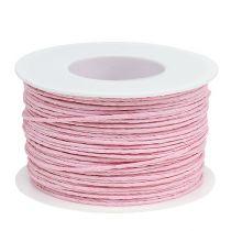 Cordón de papel envuelto en alambre Ø2mm 100m rosa