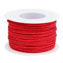 Cable de papel enrollado en Ø2mm 100m rojo