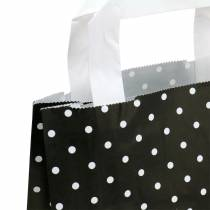 Bolsa de papel negra con puntos 22cm x 10cm x 31cm 25pcs