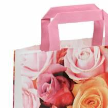 Bolsa de papel rosa 22cm x 10cm x 28cm 25pcs