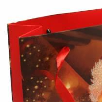 Set de bolsas de regalo con motivos navideños Santa rojo 20cm × 30cm × 8cm