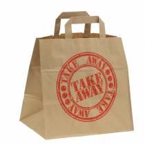 Bolsa de papel para llevar 26cm x 17cm x 25cm 25pcs