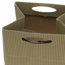 Macetero con bolsa de papel natural, gris 10,5cm 12p