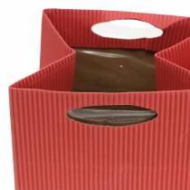 Bolsa de papel Maceta Macetero Mix Naranja 10,5cm 12pcs