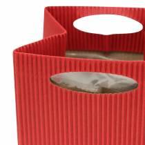 Jardinera maceta bolsa de papel Rojo 8,5cm 12pcs