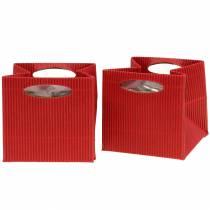 Bolsa de papel maceta maceta roja 14cm 9pcs