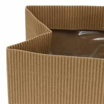 Macetero con bolsa de papel natural 10.5cm 6pcs