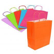 Bolsa de papel 30cm x 23cm x 12cm de color 30pcs